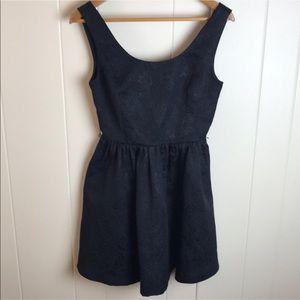 3/$27 Princess Vera Black Sleeveless Skater Dress